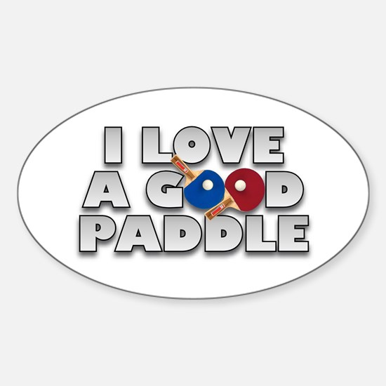 Table Tennis/Ping Pong Paddle Oval Bumper Stickers