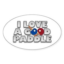 Table Tennis/Ping Pong Paddle Oval Decal