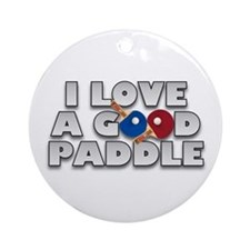 Table Tennis/Ping Pong Paddle Ornament (Round)