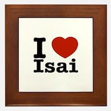I love Isai Framed Tile