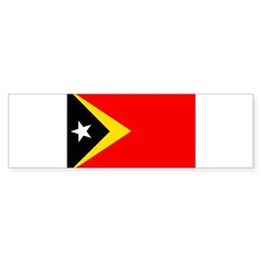 Timor Leste Flag Sticker (Bumper 50 pk)