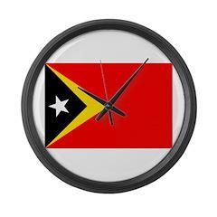 Timor Leste Flag Large Wall Clock