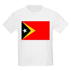 Timor Leste Flag Kids Light T-Shirt