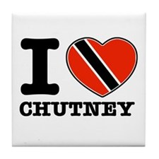 I love Chutney Tile Coaster