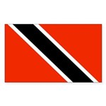 Trinidad and Tobago Flag Sticker (Rectangle 10 pk)