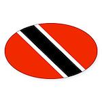 Trinidad and Tobago Flag Sticker (Oval 50 pk)