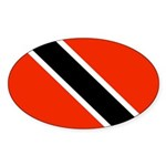 Trinidad and Tobago Flag Sticker (Oval 10 pk)