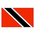 Trinidad and Tobago Flag Sticker (Rectangle)