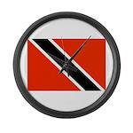 Trinidad and Tobago Flag Large Wall Clock