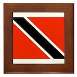 Trinidad and Tobago Flag Framed Tile