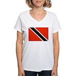 Trinidad and Tobago Flag Women's V-Neck T-Shirt