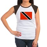 Trinidad and Tobago Flag Women's Cap Sleeve T-Shir