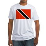 Trinidad and Tobago Flag Fitted T-Shirt