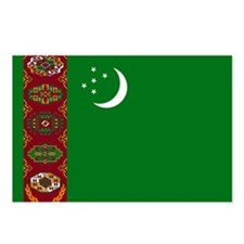Turkmenistan Flag Postcards (Package of 8)