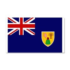 Turks and Caicos Flag Car Magnet 20 x 12