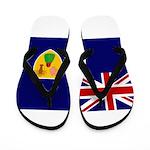 Turks and Caicos Flag Flip Flops