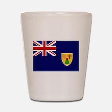 Turks and Caicos Flag Shot Glass