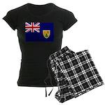 Turks and Caicos Flag Women's Dark Pajamas