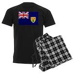 Turks and Caicos Flag Men's Dark Pajamas