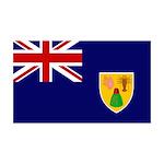 Turks and Caicos Flag 38.5 x 24.5 Wall Peel