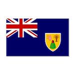Turks and Caicos Flag 22x14 Wall Peel