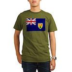 Turks and Caicos Flag Organic Men's T-Shirt (dark)