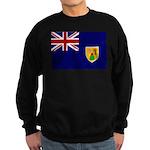 Turks and Caicos Flag Sweatshirt (dark)
