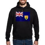 Turks and Caicos Flag Hoodie (dark)