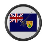 Turks and Caicos Flag Large Wall Clock