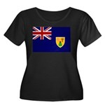 Turks and Caicos Flag Women's Plus Size Scoop Neck