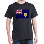 Turks and Caicos Flag Dark T-Shirt