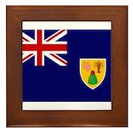 Turks and Caicos Flag Framed Tile