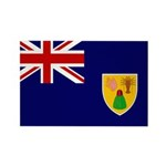 Turks and Caicos Flag Rectangle Magnet (100 pack)
