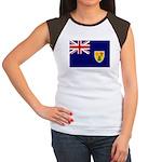 Turks and Caicos Flag Women's Cap Sleeve T-Shirt