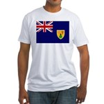 Turks and Caicos Flag Fitted T-Shirt