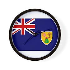 Turks and Caicos Flag Wall Clock