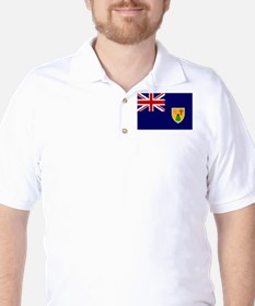 Turks and Caicos Flag T-Shirt