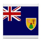 Turks and Caicos Flag Tile Coaster