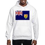 Turks and Caicos Flag Hooded Sweatshirt