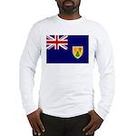 Turks and Caicos Flag Long Sleeve T-Shirt
