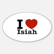 I love Isiah Sticker (Oval)