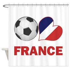 French Soccer Fan Shower Curtain