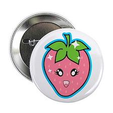 """Cute Strawberry 2.25"""" Button"""