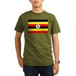 Uganda Flag Organic Men's T-Shirt (dark)