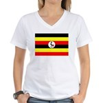 Uganda Flag Women's V-Neck T-Shirt
