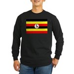 Uganda Flag Long Sleeve Dark T-Shirt
