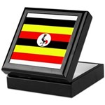Uganda Flag Keepsake Box
