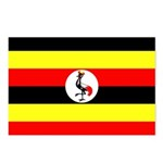 Uganda Flag Postcards (Package of 8)