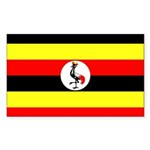 Uganda Flag Sticker (Rectangle)