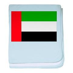 United Arab Emirates Flag baby blanket